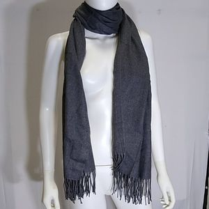 Dark Grey Blanket Scarf Shawl Cozy Cashmere Feel